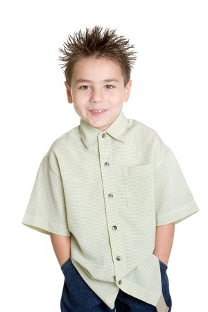spikey: Smiling Little Boy Stock Photo