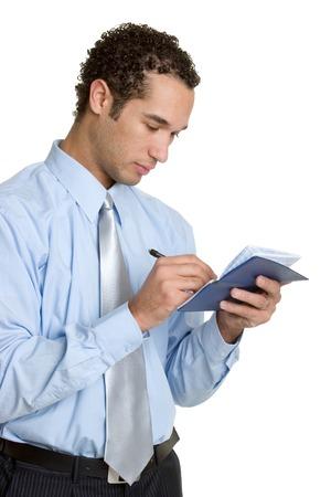 Man Writing Checks photo