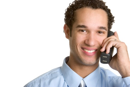 Phone Man Stock Photo