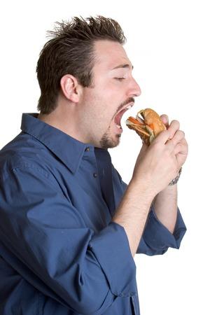 Eten Burger Stockfoto