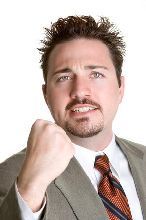 empresario enojado: Angry Empresario  Foto de archivo