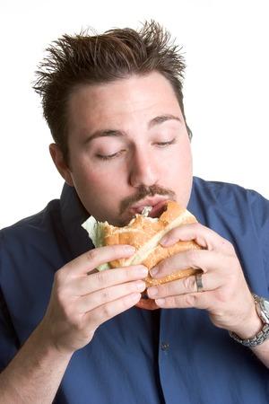 hombre comiendo: El hombre comiendo Burger