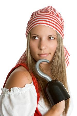 mujer pirata: Beautiful pirata  Foto de archivo