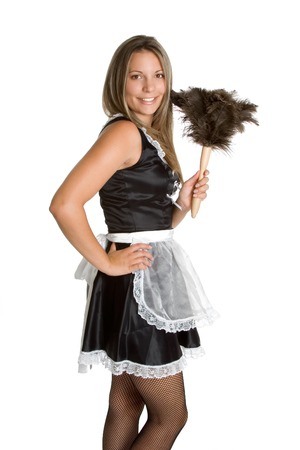 french maid: Sexy French Maid Stock Photo
