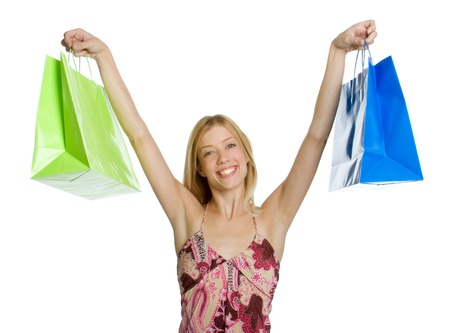 Excited Shopping Girl Stock Photo - 1576172