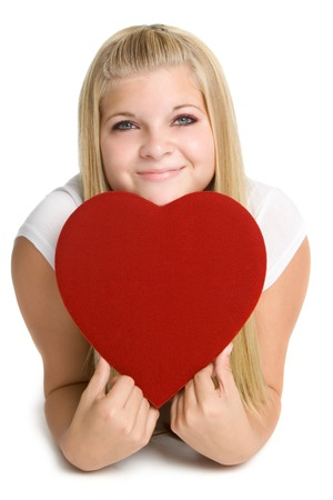 Girl Holding Love Heart photo