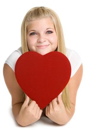 Girl Holding Love Heart photo