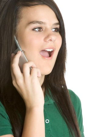 Cell Phone Girl Stock Photo - 1754154
