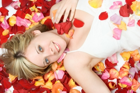 Woman in Rose Petals photo