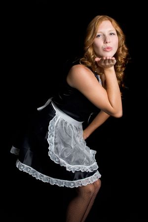 french maid: French Maid Blowing Kisses