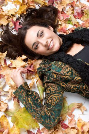 Beautiful Autumn Girl Stock Photo - 1827370