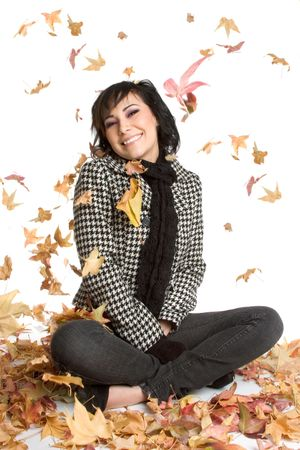 Beautiful Autumn Girl Stock Photo - 1833363