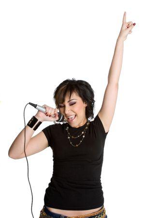 persona cantando: Canto Chica