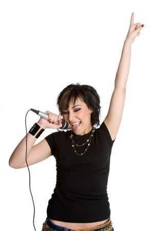 Singing Girl Stock Photo