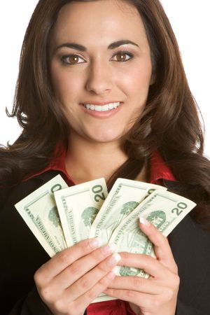Woman Holding Money Stock Photo - 1885735