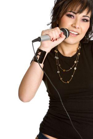 kareoke: Singing Girl Stock Photo