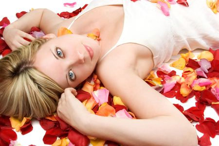 Woman in Flower Petals photo