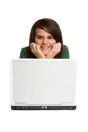 Laptop Teen Girl Stock Photo - 1920915