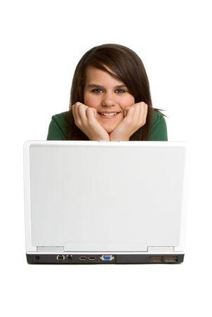 Laptop Teen Girl Stock Photo - 1920915