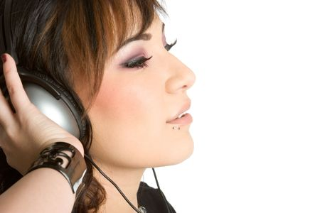 Headphones Girl Stock Photo - 1943955
