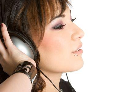 Headphones Girl Stock Photo - 1943955