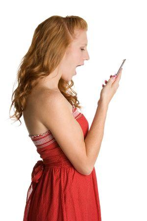 Yelling Phone Girl Stock Photo - 1999352