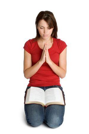 Ragazza in preghiera