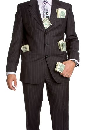 Businessman with Money Stock Photo - 2127144