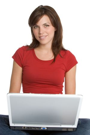 Girl Using Laptop Stock Photo - 2123830