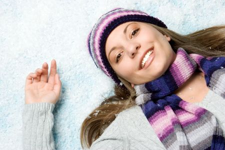 Girl in Snow Stock Photo - 2127193