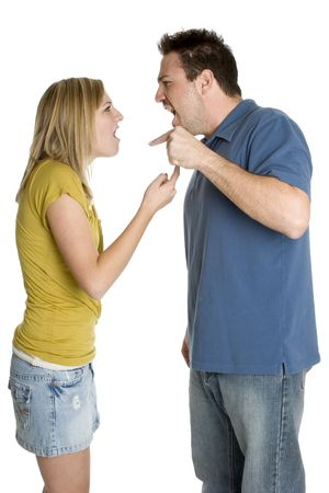 Angry Couple Stock Photo