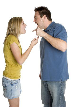 Angry Couple Standard-Bild