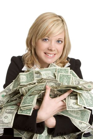 playing with money: Woman Holding Money
