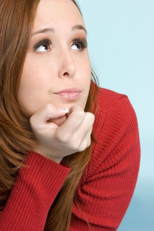 Thinking Woman Stock Photo - 2296909
