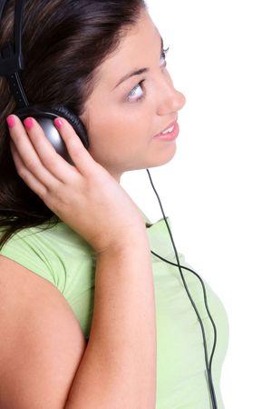 Headphones Girl Stock Photo - 2296895