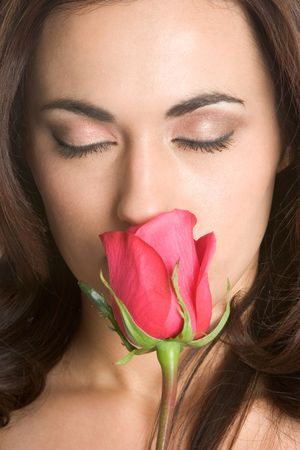 Smelling Rose Stock Photo - 2296927