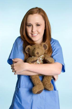 Holding Teddy Bear Stock Photo - 2296925