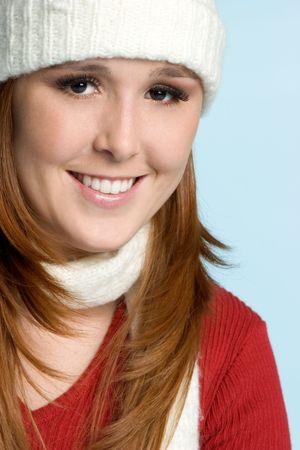 beanies: Smiling Winter Girl