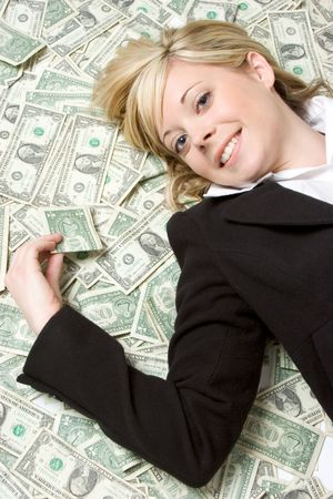 Money Woman Stock Photo - 2296976