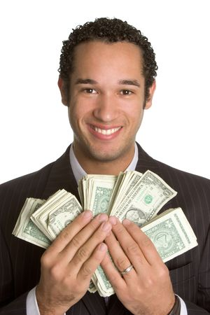 Man Holding Money Stock Photo - 2296986