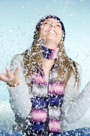 Snow Girl Happy
