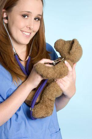 Nurse and Teddy Bear Stock Photo - 2297026