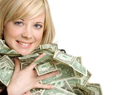 Money Woman Stock fotó - 2313391