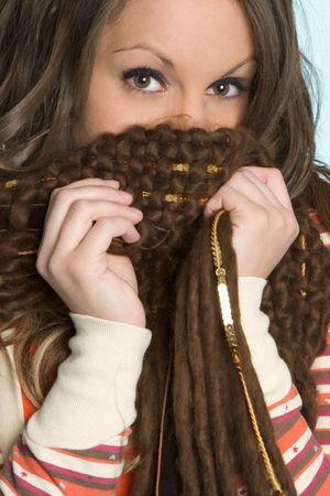 sciarpe: Nascondersi dietro sciarpa