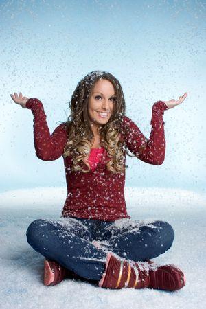 Happy Snow Woman