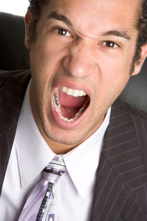 Yelling Businessman Stock Photo - 2336250