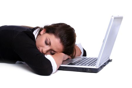 Sleeping on the Job Stock Photo - 2376976