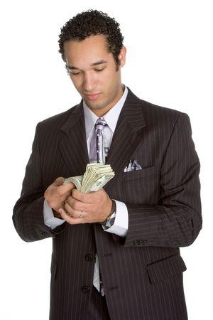 contando dinero: Contar dinero  Foto de archivo