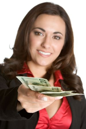 Woman Holding Cash Stock Photo - 2377477