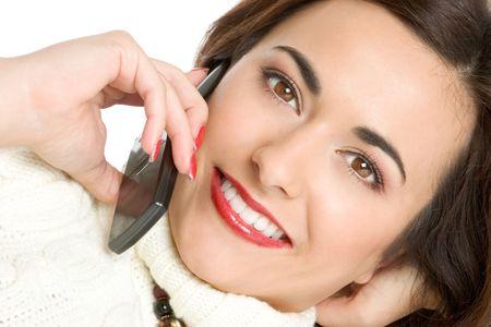 Beautiful Phone Girl Stock Photo - 2422641